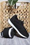 Çocuk Siyah Rb Reilly Cırtlı File Detaylı Kalın Taban Sneaker