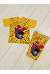 Erkek Çocuk Sarı Spiderman Yazlık Takım
