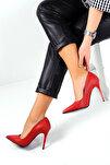 Kırmızı Kadın Topuklu Ayakkabı A1770-17