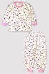 4 Mevsim Kız Erkek Çocuk Karışık Baskılı %100 Pamuk Pijama Takım 9546