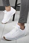 Unisex Beyaz Rahat Taban Günlük Spor Ayakkabı