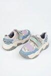 Kadın  Mavi Dolgu Topuklu Sneaker Spor Ayakkabı