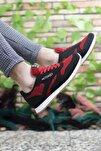 Siyah Kırmızı Krep Unisex Sneaker 00121057