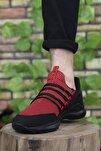 Siyah Kırmzı Erkek Sneaker 0012180