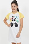 Kız Çocuk P.suprem Kısa Kol 3-7 Yaş Beden Sarı Tunik