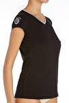 Kadın Siyah V Yaka T-shirt US.01.66053