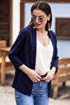 Kadın Lacivert Duble Kol Ceket ARM-18Y001173