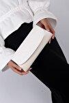Beyaz Kadın Abiye Çanta C0226-18