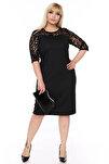Kadın Siyah Elbise 17774