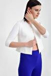 Kadın Ekru Mini Ceket 19L6595