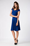Kadın Saks Elbise 14L1062-L