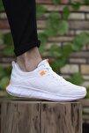 Unisex Beyaz Turuncu Sneaker 0012075