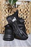 Mc Kimberly Çok Renkli Çizgi Detaylı Örgülü Kalın Taban Çocuk Sneaker