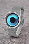 Plpremıum02r01 Ilizyonist Tasarım,erkek Ve Kadın Kullanabilir,çelik Hasır Kordon, Gümüş Kol Saati