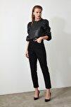 Siyah Yüksek Bel Mom Jeans TWOAW20JE0129