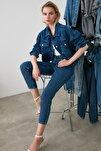 Indigo Yüksek Bel Mom Jeans TWOSS20JE0108