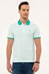 Erkek Mint Yeşil Slim Fit Polo Yaka T-Shirt