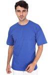 Unisex Lacivert Düz Sax Oversize T-shirt