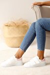 Kadın Beyaz Pudra Ayakkabı