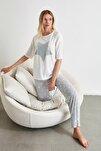 Yıldız Desenli Örme Pijama Takımı THMAW21PT0160
