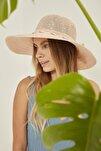 Kadın  Somon Syt Merserize Hasır Şapka T2740-08