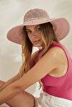 Syt Kadın Merserize Hasır Şapka T2740-08 Gül Kurusu