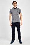 Erkek Gri Sportswear T-shirt