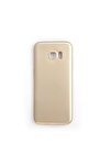Samsung Galaxy S7 Edge Kılıf Premium Silikon Gold