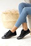 Kadın Siyah Nubuk Casual Ayakkabı