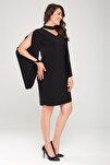 Kadın Siyah Kol Detaylı Elbise 17LB9098