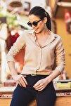 Kadın Bej Uzun Kollu Düz Gömlek ARM-18Y001176