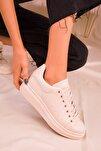 Bej Kadın Sneaker 15732