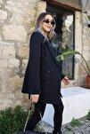 Kadın Siyah Düğme Detaylı Blezer Ceket