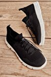 Siyah Gri Kadın Sneaker K01816027182