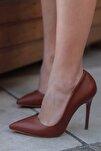 Kahverengi Kadın Topuklu Ayakkabı