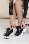 Siyah Beyaz Kadın Sneaker DNZ-1