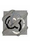 İpek Eşarp Tivil Desenli Siyah 7851713