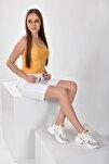 Beyaz Sarı Kadın Spor Ayakkabı 9Y2SAJ0006