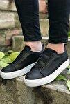 Siyah Beyaz Erkek Spor Ayakkabı CH013