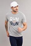 Gri Pamuklu Erkek  T-Shirt ES-1362