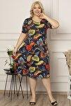 Büyük Beden Desenli Elbise