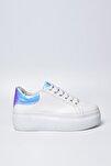 Beyaz Hologram Kadın Spor Ayakkabı 9Y2SAJ0005