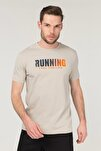 Krem Pamuklu Erkek T-Shirt FS-1681