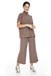Kadın Kahverengi Örme Pantolon 10222549 VMFALLULAH 10222549