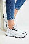 Unısex Spor Ayakkabı Beyaz Siyah Zyp