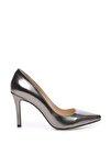 Metalik Kadın Vegan Stiletto Ayakkabı 22 278 BN AYK