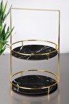 50 cm 2 Katlı Lüx Siyah İkramlık