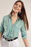 Kadın Önü Bağlamalı Crop Gömlek Y20s110-3470