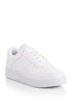 Beyaz Sarı Unisex Sneaker V2005-0
