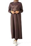 Kadın Üzüm Yandan Renkli Düğmeli Tunik P51062